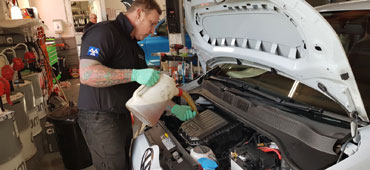 Servicing a Volkswagen Car